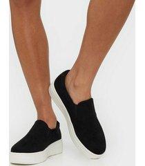 duffy faux suede slip-on sneaker slip-on svart
