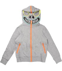 stella mccartney sweatshirt with zip and hood bandit gray
