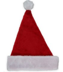 """northlight 16"""" traditional red and white plush christmas santa hat - adult size small"""