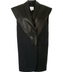 3.1 phillip lim removable scarf vest - black