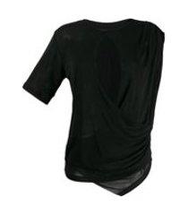 unravel project camiseta drapeada - preto