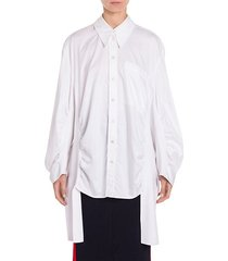 ruched-side shirt