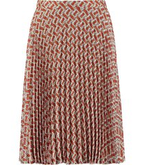 burberry printed pleated skirt