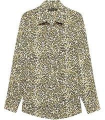 blusa dillon hallie leopard amarillo banana republic