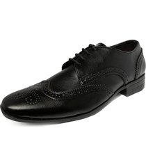 zapato hombre negro outfit oxford