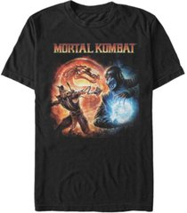 men's mortal kombat 9 fire and ice short sleeve t-shirt