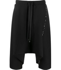 alchemy drop-crotch shorts - black