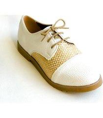 zapato blanco omm abotinados