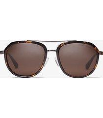 mk occhiali da sole montego - tartaruga (marrone) - michael kors