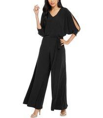 msk embellished cold-shoulder jumpsuit