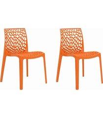conjunto 02 cadeiras gruv laranja rivatti móveis