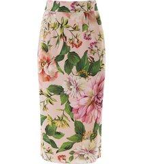 dolce & gabbana floral midi pencil skirt