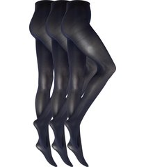 decoy recycled tight 40den 3pk lingerie pantyhose & leggings blå decoy