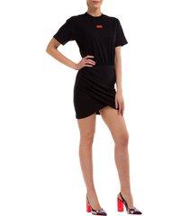 vestito abito donna corto miniabito manica corta