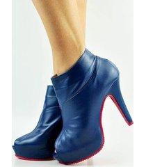 ankle boot antônia domingues salto fino alto - feminino