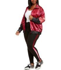 lala anthony trendy plus size colorblocked active jacket