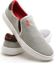 sapatenis slip on polo joy masculino - masculino