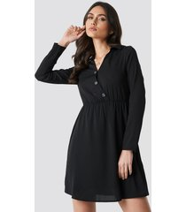 trendyol button detailed mini dress - black