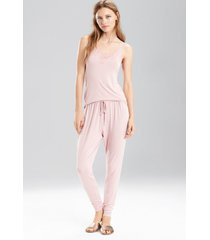 undercover tank pajamas, women's, red, size l, josie natori