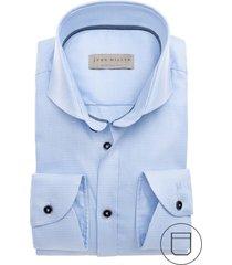 john miller mouwlengte 7 shirt blauw modern fit