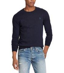 sweater slim fit cotton azul polo ralph lauren