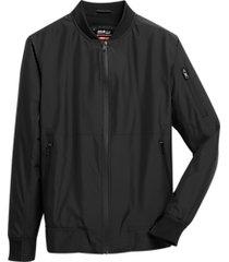 awearness kenneth cole awear-tech modern fit bomber jacket black