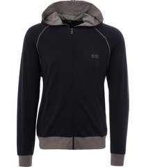 boss dark blue hooded sweatshirt 50381879-409