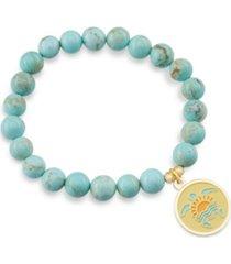 aqua terra jasper stunner with sea turtle charm bracelet