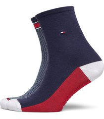 th women short sock 2p translucent underwear socks regular socks blå tommy hilfiger