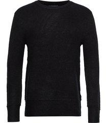 chris crew neck gebreide trui met ronde kraag zwart bruuns bazaar