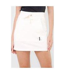 saia calvin klein underwear curta amarração off-white