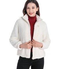 chaqueta borrego blanco nicopoly