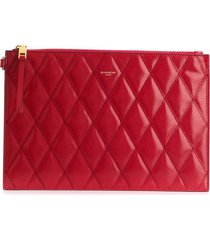 givenchy small gv3 quilted pouch - red