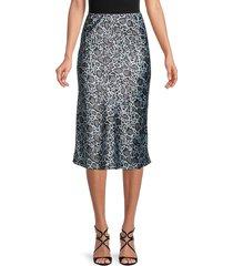 love ady women's printed skirt - grey black - size s