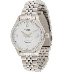 timex waterbury traditional 34mm watch - metallic