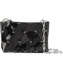 paco rabanne diamond chain-link tote bag - black