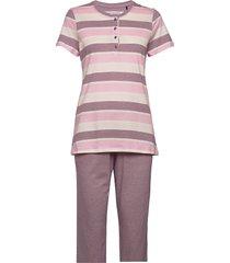 pyjamas 3/4 pyjamas lila schiesser