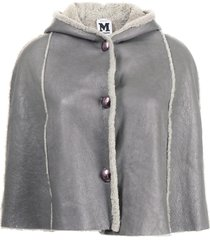 missoni pre-owned shearling cape poncho - grey