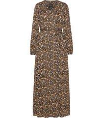 printed maxi length wrapover dress maxiklänning festklänning brun scotch & soda