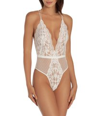 women's in bloom by jonquil plunge neck lace thong teddy
