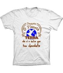 camiseta baby look lu geek terra chocolate branco