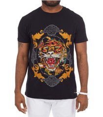 heads or tails 3d graphic tiger t-shirt