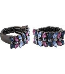 anel armazem rr bijoux cristais azul e vinho grafite