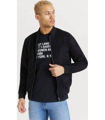 bomberjacka fake suede bomber jacket