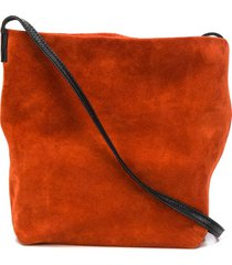 ann demeulemeester squared-shape crossbody bag - orange