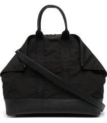 alexander mcqueen de manta logo jaquard tote bag - black