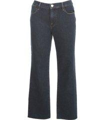 frame straight jeans w/fringes on bottom