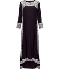cucitura del crochet del merletto che veste il vestito da maxi delle donne di alta bassa dell'annata