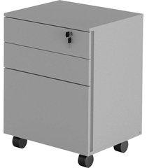 gaveteiro com chave branco tecno mobili - tricae