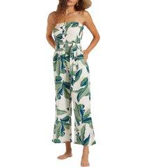 women's billabong forward feelings strapless jumpsuit